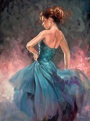 Blue Dot Dress by Mark Spain -  sized 24x32 inches. Available from Whitewall Galleries